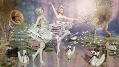 Dreaming on our feet..... (Duchess Flux) Tags: arcade trunk palegirlproductions blush theliaisoncollaborative moonamore exile enfersombre belleepoque dela glamaffair catwa delmay secondlife fantasy sl