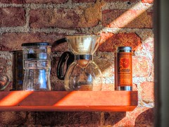 Light Does Shine (clarkcg photography) Tags: coffee coffeeshop chimera bar tulsa mainstreet press filter kraft brick saturated saturatedsaturday