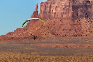 Glider in Monument Valley, Utah.