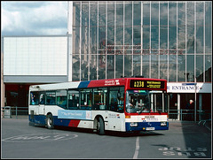 Travel West Midlands 1704 (Jason 87030) Tags: travelwestmidlands wm zum red white blue bus slide scan weather busstation merryhill merryhell glass 238 mercedes 1704 midlands dudley uk shoppingcentre mall retail june 2004 v704wda entrance old tag flickr photo photos pic pics socialenvy pleaseforgiveme picture pictures snapshot art beautiful picoftheday photooftheday color allshots exposure composition focus capture moment benz publictransport