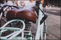 A comfy saddle (G. Postlethwaite esq.) Tags: dof derby derbyshire fujix100t macro beyondbokeh bicycle bike bokeh closeup depthoffield fullframe photoborder photowalk saddle selectivefocus springs street