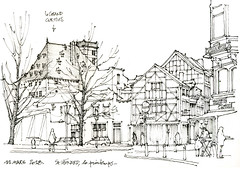 Saint-Léonard (gerard michel) Tags: belgium liège rue architecture sketch croquis