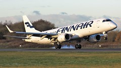 OH-LKG (AnDyMHoLdEn) Tags: finnair embraer oneworld egcc airport manchester manchesterairport 05r