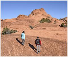 Petrified Sand Dunes (Runemaker) Tags: sandstone petrified sanddunes hiking hikers woman man martha richard snowcanyon statepark utah nature landscape