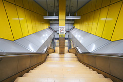 Spaceship Schwabstrasse (Marc R. A.) Tags: lines greens abstract composition yellow