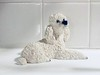 White Poodle figurine (swampzoid) Tags: figurine poodle animal fake white blind clean minimum stark lonely glossy blaring too setting staged