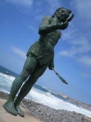 Hautacuperche statue (Jackie & Dennis) Tags: hautacuperche statue lagomera vallegranrey playadelapuntilla vueltas dutchangle