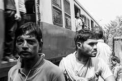 Passing Train (anthonypond) Tags: 50mmsummilux kolkata bw leicam9 calcutta india