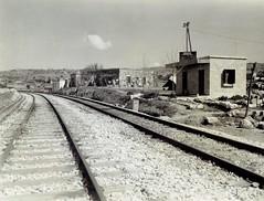 Haifa-Beirut-Tripoli Railway (HBT - Lebanon section) - Jbeil - the blockhouse (HISTORICAL RAILWAY IMAGES) Tags: hbt haifa beirut tripoli railway wwii lebanon palestine train jbeil