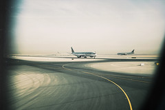 Qatar (tropeone) Tags: sky airplane runway doha hamad international airport qatar oneworld airbus a350 a350xwb desert travelogue travel middle east taxiway 35mm