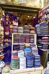 Kipot - 1, Ben-Yehuda Street, Jerusalem (Yekkes) Tags: israel jerusalem benyehudastreet kippot colours jewish shop display forsale