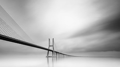 Rainy infinite mind mono (frank_w_aus_l) Tags: brücke lissabon lisbon vascodagama nikon d800 infinity bridge architecture beautiful rain horizon longexposure nikkor 1635 light mind monochrome sw bw noiretblanc portugal reflection sacavém lisboa pt