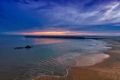 Corona Del Mar State Beach (Roving Vagabond aka Bryan) Tags: coronadelmar statebeach sunset seaside seascape landscape clouds water beach port bluehour california socal cali sand ocean pacific drone dji djiphantom4