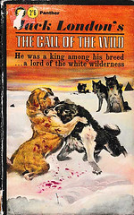 The Call of the Wild - Jack London (fstop186) Tags: callofthewild jacklondon paperback panther 1963 dogs wolves wild novel artwork frontcover fiction dogsfighting old battered dogeared brumal ferine
