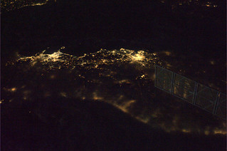 The center of Italy as seen from ISS