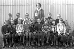 Class photo (theirhistory) Tags: children kids boys school girls teacher jumper trousers wellies rubberboots