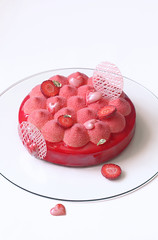 """Alba"" Entremet (Мiuda) Tags: cake cakes red strawberry strawberries berry berries entremet entremets mousse moussecake contemporary modern pastry french frenchpastry pastries love valentinesday pink sweet bake baking baked bakery patisserie dessert delicious velvet redvelvetcake redvelvet chocolate layered white background canon foodphoto foodphotography flickr blog blogger foodblog foodblogger recipe summer celebration luxury perfect mirror glaze mirrorglaze brilliant bright colorful"