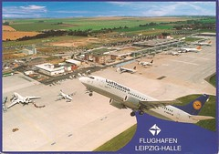 LEJ01 (By Air, Land and Sea) Tags: airport postcard germany leipzig halle leipzighalleairport lej aircraft airplane airline saxony