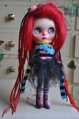 Sally, CyberSally (♥PAM♥dolls♥) Tags: cyberpunk pamdolls blythe redhair dreadlocks customblythe