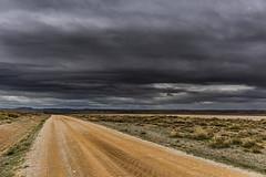 Towards the storm.... (Martika64) Tags: camino road caminorural countryroad paisaje landscape paisajerural rurallandscape cielo sky nubes clouds tormenta storm imagenacolor colorimage espacioabierto outdoor noperson