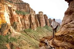 Gheralta Priest (Rod Waddington) Tags: africa african afrique afrika äthiopien ethiopia ethiopian ethnic etiopia ethnicity ethiopie etiopian gheralta mountains massif orthodox priest coptic christianity christian mountain path nature outdoor rock rocks rockhewnchurch