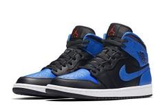 "Air Jordan 1 Mid ""Royal"" Gets Paint Splattered (eukicks.com) Tags: air jordan 1 mid kicks sneaker preview"