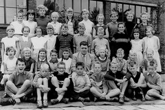 Class photo (theirhistory) Tags: girls children school class form kids boys shoes sandals jumper wellies shirt boots