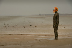 Spooky (PentlandPirate of the North) Tags: anotherplace antonygormley statue crosby beach merseyside scaryclown different spooky