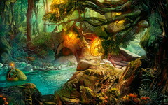 Magic Forest (cirooduber) Tags: ostagram deepdream forest magic awardtree digitalarttaiwan trollieexcellence visualart fantasy