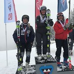 FIS BC Cup Women SL Podium - Grouse