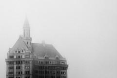 (Casey Lombardo) Tags: longbeach longbeachca villariviera frenchgothic architecture buildings apartments apartment fog foggy mist misty bw bwphotography blackandwhite monochrome monochromatic grainy