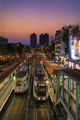 Light Rail Station (mikemikecat) Tags: yuenlong hongkong lightrail station 元朗 輕鐵 香港 twilight nightscape nightview night 夜景 mikemikecat house structures street scenery 建築 建築物 nightscapes sunset twlight magicmoment 夕空 夕暮れ 夕焼け sony a7r sel35f28z fe35mm