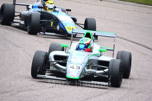 Josh Skelton in British F4 pre-season testing 2018