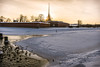 Peter and Paul Fortress (Tony_Brasier) Tags: icecold outdoors nikond7200 day snow ice sigma sky bluesky buildings water ducks trees 1750mm lovely location russia raw river rocks saintpetersburg