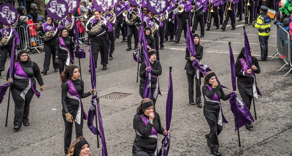 THE LUMBERJACK MARCHING BAND IN ACTION [ ST. PATRICKS DAY PARADE IN DUBLIN 2018]-137576