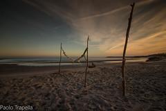 spiaggia d'inverno (paolotrapella) Tags: spiaggia inverno clouds sky italy sabbia sand sunset tramonto