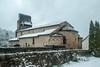 Vic d'Oust (Ariège) (PierreG_09) Tags: ariège pyrénées pirineos couserans neige hiver village oust vicdoust chapelle église clocher roman mh