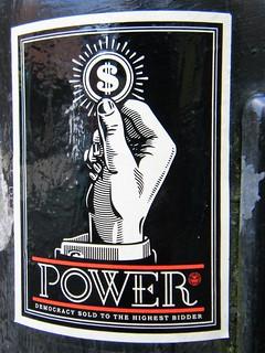 Manchester street art = democracy sold to the highest bidder
