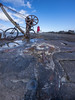 DSC_8613-PoolbegLownWide_6blend14mm (RobNDub) Tags: ultrawideangle wideangle graffiti dublin pool beg lighthouse sea rock sunset mountain bike poolbeg