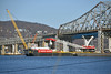 Picture Taken From The Riverwalk Trail Just South Of Old Tappan Zee Bridge/New Mario M Cuomo Bridge. The Left Coast Lifter Has Just Began Installing The Blue Girders At The Westchester Landing Last Week (ses7) Tags: new tappan zee bridgeny construction phase continues