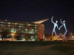 The Dancers (procrast8) Tags: denver colorado co performing art complex sculpture park dancer jonathan borofsky bellco theatre
