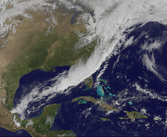 GOES-13 Sees Strong Cold Front Sweeping Through U.S. East Coast (skaradogan) Tags: nasa goes weather coldfront spring thunderstorm goddardspaceflightcenter