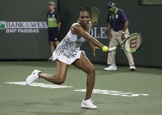 Venus, Halep win, Wozniacki upset at Indian Wells