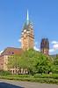 Duisburg - Innenstadt (38) - Rathaus (Pixelteufel) Tags: duisburg nordrheinwestfalen nrw architektur fassade gebäude innenstadt city stadtmitte stadtkern historisch restauriert erneuert rathaus cityhall townhall stadtverwaltung turm turmuhr bäume baumbestand