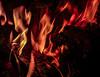 Flames (Steve Taylor (Photography)) Tags: red brown black mauve newzealand nz southisland canterbury christchurch embers fire flame heat lightandheat log
