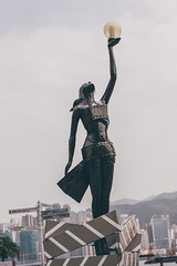 Lady Star (]vincent[) Tags: hk hong kong china asia vincent sony rx 100 mk iv people portrait kowloon tst tsim sha tsui spidey spider man bruce lee one piece walk fame avenue