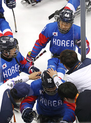 Paralympic_IceHockey_Korea_Italy_07 (KOREA.NET - Official page of the Republic of Korea) Tags: 평창 2018평창동계패럴림픽 강릉시 강릉하키센터 강릉올림픽파크 파라아이스하키 아이스하키 2018pyeongchangwinterparalympic paralympics icehockey gangneunghockeycenter bronzemedalgame