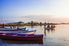 guarda-0079 (iedafunari) Tags: guarda do embaú palhoça santa catarina brasil mar praia balneário rio da madre barcos canoas entardecer por sol