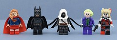 Dc minifigs #4 : Dark heroes and villains (Alex THELEGOFAN) Tags: lego legography minifigure minifigures minifig minifigurine minifigs movie minifigurines batman black azrael thejoker harley quinn super heroes series dc comics dark knight warrior bat gray rises purple white arkham videogame creation villain