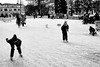 Feb 11, 2018 (pavelkhurlapov) Tags: iceskating kids outside people falling watching monochrome streetphotography trees square
